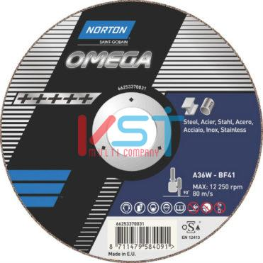 Круг отрезной Norton Omega A60W-BF41 125x1x22,23