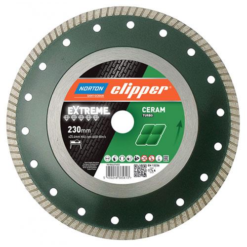 Алмазный диск NORTON Clipper Extreme Ceram Turbo / Super Gres для керамики