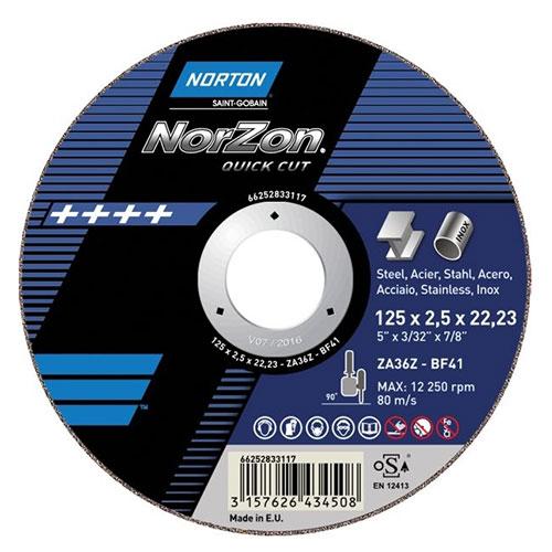 Круг зачистной NORTON NORZON QUICK CUT T27