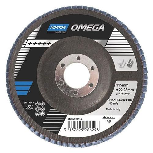 Лепестковый диск NORTON Omega R828 конический