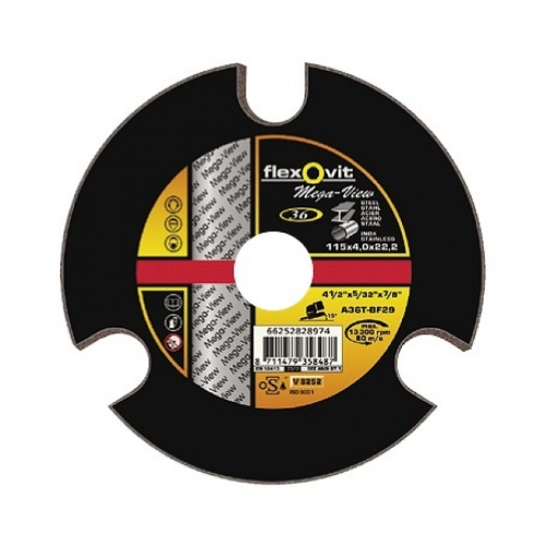 Круг зачистной 125 х 4.0 х 22.23 мм FLEXOVIT MEGA VIEW