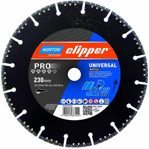 Алмазный диск NORTON Clipper PRO Universal Ductile