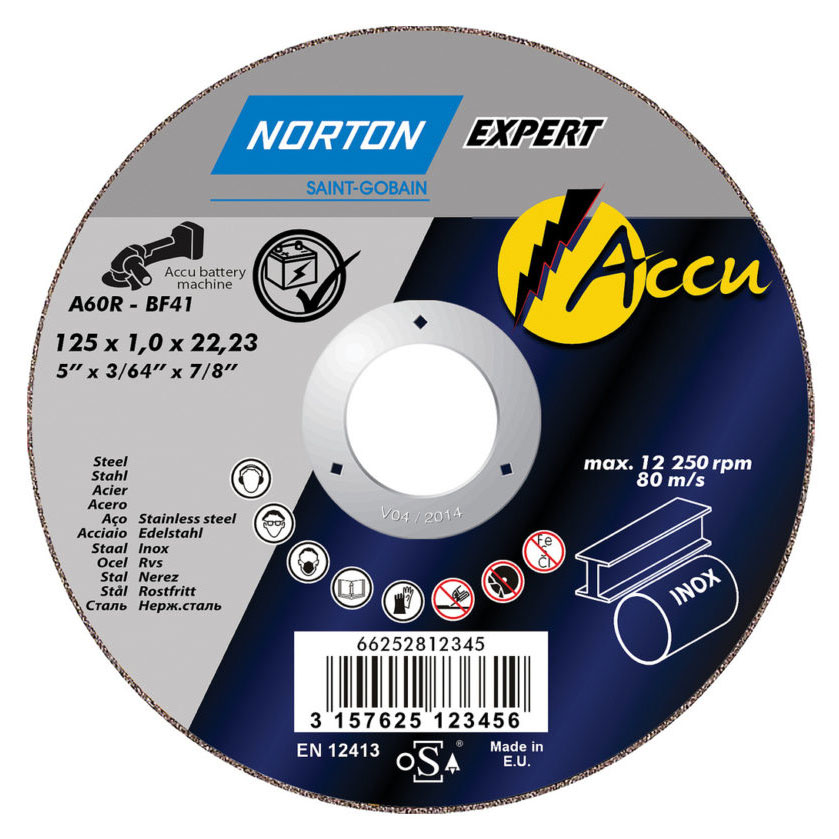 Круг отрезной NORTON Accu