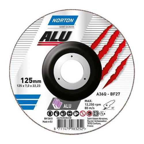 Круг зачистной NORTON ALU / Aluminium по алюминию