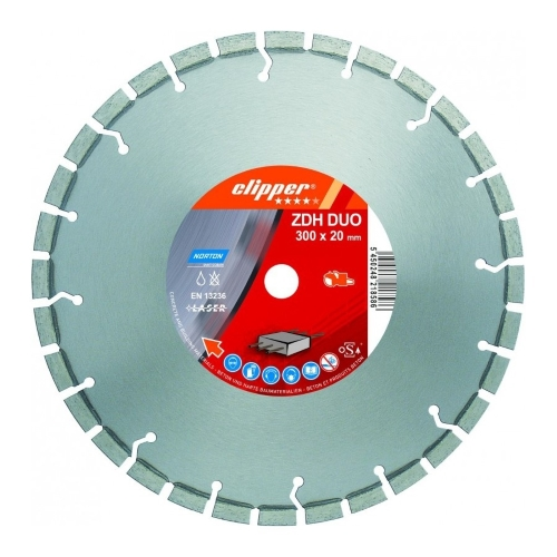 Алмазный диск NORTON PRO BETON ZDH DUO