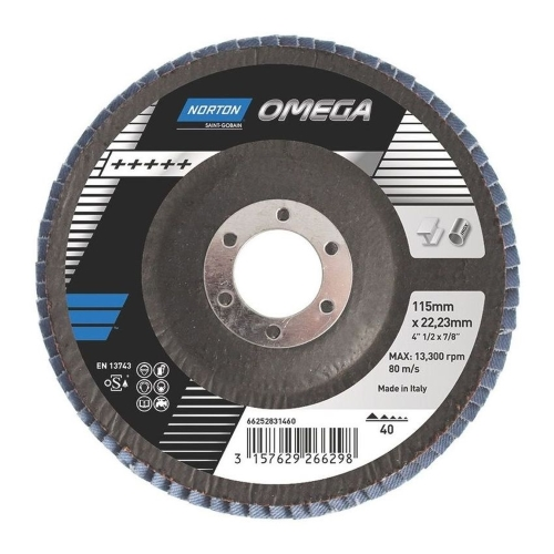 Круг лепестковый 125 х 22.23 мм NORTON OMEGA P60 Special